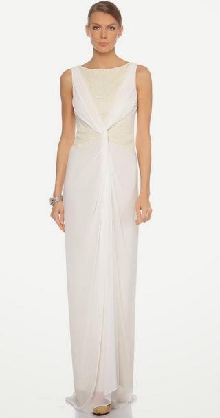 Beyaz bayan elbise modelleri
