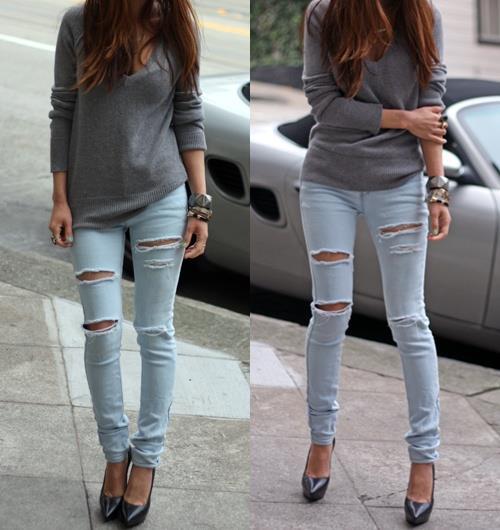 Skinny Jeans Kombini Yapma