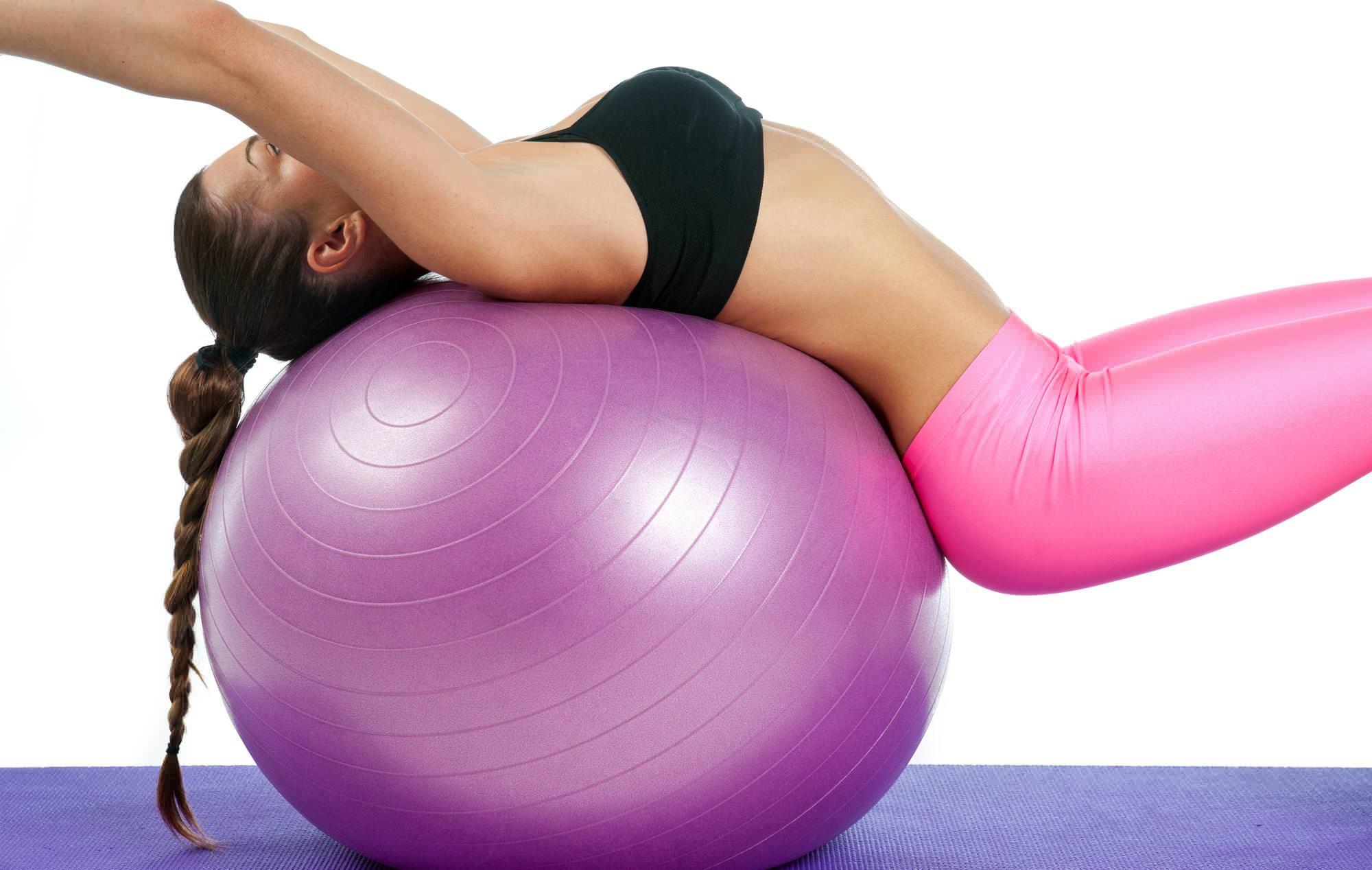 pilates topu sırt egzersizleri