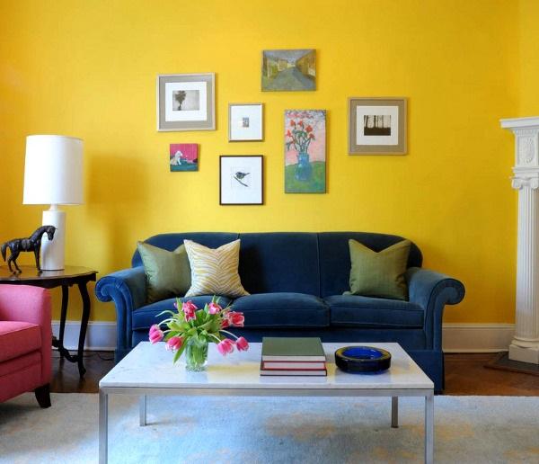 sarı renkli dekorasyonlar